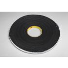 Foam Tape, 36.0 yd. L x 0.500 in. W x 0.061 in. thick, Vinyl Closed Cell, Paper Lined, Black