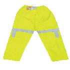 Elastic Pant, X-Large, Polyester/Polyurethane, Fluorescent Lime Yellow, 16 mils, Fly Closure