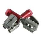 Multi-Stack Disconnect, 22 - 15 AWG, Red, .250x.032 in. Tab, Non-Insulated, 105 deg C