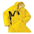 Jacket, Heavy Duty, Hooded, PVC/Polyester, X-Large