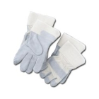 Gloves, Leather Palm, Cowhide Palm and Back, Large