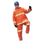 Det Hood, 48 to 50 in. Waist/48 to 50 in. Chest/X-Large, PVC on Polyester, Orange, -2 Pockets
