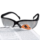 Readers Safety Glasses, Black Frame, 1.5 Diopter Clear Lens