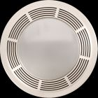 Bath Fan/Light, 100 CFM, 3.5 Sones, Polymeric Grille, 4 in. Round Duct