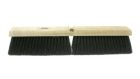 Floor Sweep Brush, Hardwood Lacquered Block, Tampico Black Bristle, 3 in. Trim, 24 in. L