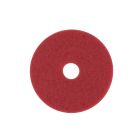 Buffer Pad, 19 in. Dia x 1 in. thick, Circular Disk Shape, Polyester, Red, 175/600 rpm