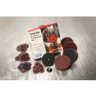 Surface Conditioning Disc, Flat, 4 in. Dia, 18000 RPM, Aluminum Oxide, Metal