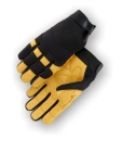 Mechanics Style Gloves Wing Thumb 9 A Grade Deerskin, Double Palm Palm