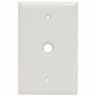 Cable/Telco Plate Ivory Thermoset (1) Cable Hole .406 ID, Box Mounted