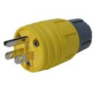 Straight Blade Plug, 15A, 125V, 2P 3W Thermoplastic Yellow
