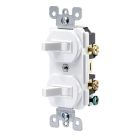 Combination Multiple Switch, 15A 120/277V, Toggle, 1-Pole, Duplex Receptacle Plate, White