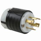 Locking Plug, 30A, 480V 3 Phase, 3P 4W Nylon Black/White