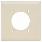 Receptacle Plate Ivory Nylon (1) Outlet Hole 2.15 ID
