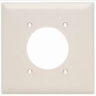 Receptacle Plate Light Almond Nylon (1) Outlet Hole 2.15 ID