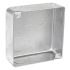 Steel Square Outlet Box 4 x 1-1/2