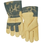 Gloves, Leather Palm, Pigskin Palm and Back, Large