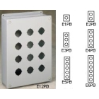 Steel Pushbutton Enclosure, 3 Row Vertical, Standard 30.5mm