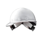 Hat, Hard, White Thermoplastic Shell