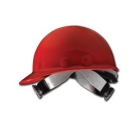 Hat, Hard, Red Thermoplastic Shell