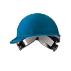 Hat, Hard, Blue Thermoplastic Shell